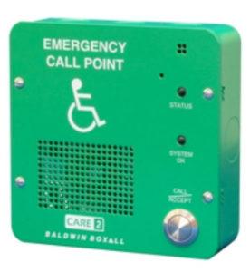 Baldwin emergency button